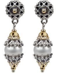 Konstantino - Classics Dangle Drop Pearl Earrings - Lyst