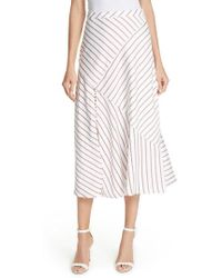 Nicholas - Stripe Panel Skirt - Lyst