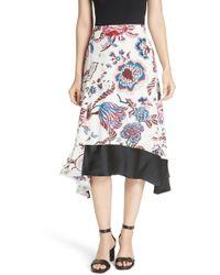 Tory Burch - Floral Skirt - Lyst