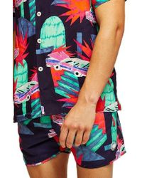 TOPMAN - Neon Car Munday Swim Trunks - Lyst