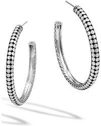 John Hardy - 'dot' Hoop Earrings - Lyst