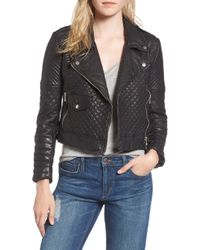 Joe's - Quilted Leather Moto Jacket - Lyst