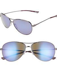 9b17bc1b1f Smith - Langley 60mm Chromapop(tm) Polarized Aviator Sunglasses -  Ruthenium  Violet -
