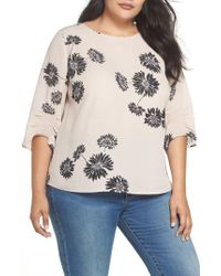 Vince Camuto - Chateau Floral Georgette Top - Lyst