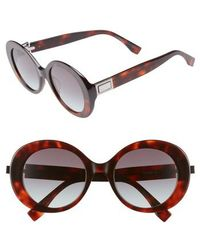 Fendi - 52mm Round Sunglasses - - Lyst