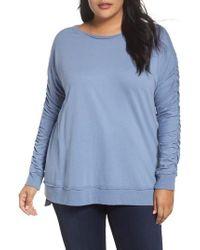 Caslon - Caslon Scrunch Sleeve Sweatshirt - Lyst