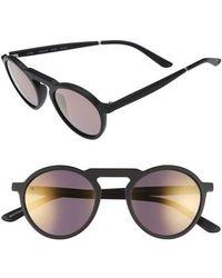 Smoke X Mirrors - Letter 49mm Mirrored Round Sunglasses - - Lyst