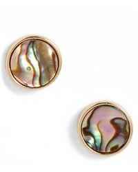 Argento Vivo Mother Of Pearl Stud Earrings - Metallic