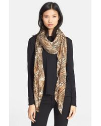 The Kooples - Tiger Print Modal & Silk Scarf - Lyst