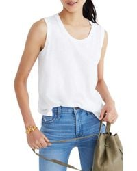 Madewell - Whisper Cotton Crewneck Muscle Tank - Lyst
