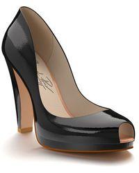 Shoes Of Prey - Peep Toe Platform Pump - Lyst