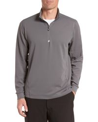 de38eb8ef0d Lyst - Cutter   Buck Regular Fit Quarter Zip Sweater in Black for Men