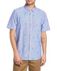 ca653463f5 Vans - Houser Palm Tree Woven Shirt - Lyst