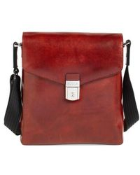 Bosca - 'man Bag' Leather Crossbody Bag - - Lyst