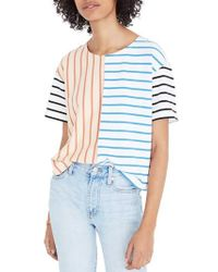 Madewell - Mixed Stripe Easy Crop Tee - Lyst