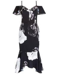 City Chic - Rose Shadows Sheath Dress - Lyst