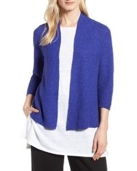 Eileen Fisher - Simple Organic Linen & Cotton Cardigan - Lyst