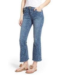 MICHAEL Michael Kors - Floral Crop Flare Jeans - Lyst