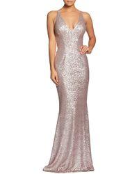Dress the Population - Harper Mermaid Gown - Lyst