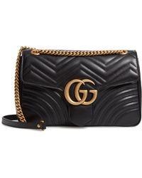 486446bf8d15 Gucci - Medium Gg Marmont 2.0 Matelasse Leather Shoulder Bag - Lyst