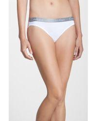 CALVIN KLEIN 205W39NYC - 'radiant' Cotton Bikini - Lyst