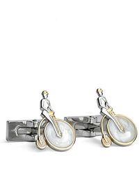 Robert Graham - 'penny Rider' Cuff Links - Rhodium/ Gold - Lyst