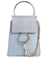 Chloé - Faye Small Suede & Leather Bracelet Bag - Lyst