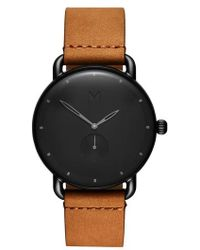 MVMT - Revolver Wilde Leather Strap Watch - Lyst