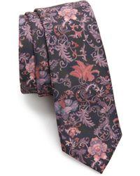 TOPMAN - Clarke Floral Print Tie - Lyst