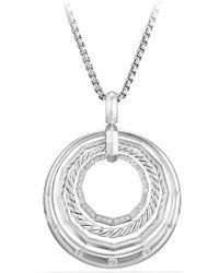 David Yurman - Stax Diamond Pendant Necklace - Lyst
