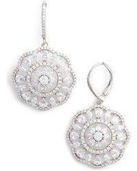 Nina - Sunburst Drop Earrings - Lyst