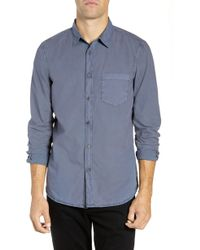 French Connection - Overdyed Regular Fit Poplin Sport Shirt - Lyst