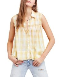 Free People - Hey There Sunrise Button Front Shirt - Lyst