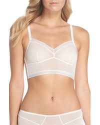 f0bf182d8a27c Lyst - Josie Contour Bra Jet Set T Back with Net Overlay in Pink