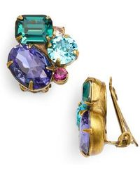 Sorrelli - Crystal Cluster Clip Earrings - Lyst