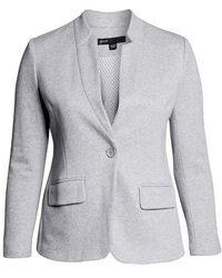 785fe5f66ea Gibson - Notch Collar Cotton Blend Blazer - Lyst