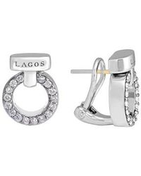 Lagos - 'enso - Circle Game' Diamond Stud Earrings - Lyst