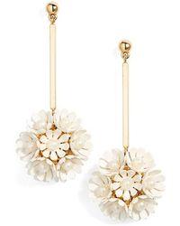 Lele Sadoughi - Plumeria Drop Earrings - Lyst