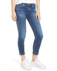 AG Jeans - Prima Distressed Crop Cigarette Jeans - Lyst