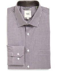 W.r.k. - Extra Trim Fit Check Dress Shirt - Lyst
