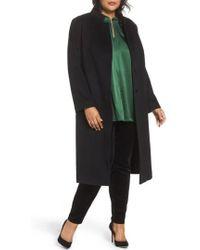 Fleurette | Inverted Lapel Loro Piana Wool Coat | Lyst