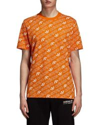 adidas Originals - Monogram Allover Print T-shirt - Lyst