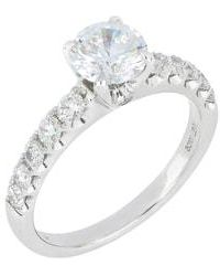 Bony Levy - Pave Diamond Round Solitaire Engagement Ring Setting (nordstrom Exclusive) - Lyst