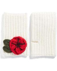 Kate Spade - Crocheted Poppy Arm Warmers - Lyst