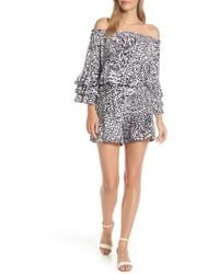 Lilly Pulitzer - Lilly Pulitzer Calla Off The Shoulder Romper - Lyst