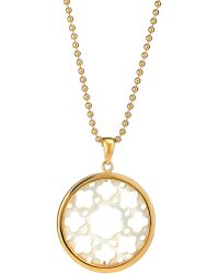 Asha - Carlotta Mother-of-pearl Long Pendant Necklace - Lyst