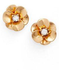 Kate Spade - Shine On Flower Stud Earrings - Lyst