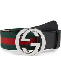 30eb54cd5aced Lyst - Gucci Gg Caleido Belt With G Buckle in Black for Men