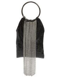 Whiting & Davis | Cascade Crystal Fringe Mesh Bracelet Bag | Lyst