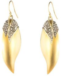 Alexis Bittar - Crystal Encrusted Capped Feather Earrings - Lyst